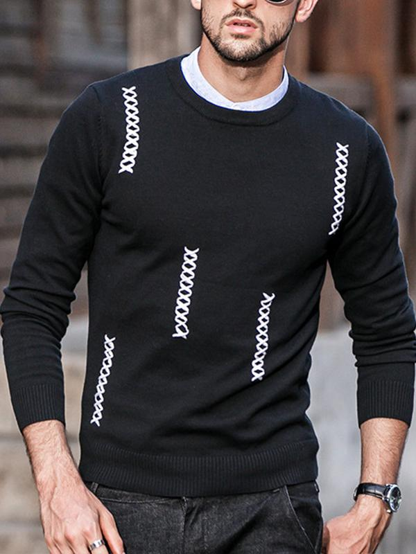 Men Knitted Sweater Tops