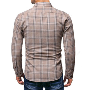 Men Business Long Sleeve Printing Shirt
