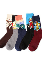 Load image into Gallery viewer, 5Pairs Casual Art Breathable Cotton Socks(For US Size7-9.5)