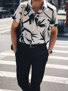 Men Tropical Printed Shirt
