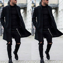 Load image into Gallery viewer, Men Revere Collar Solid Windbreaker Parka