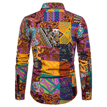 Load image into Gallery viewer, Men Printed Long Sleeves Shirt