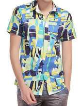 Load image into Gallery viewer, Men Asymmetric Graphic Shirt