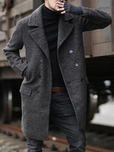 Load image into Gallery viewer, Men Formal Lapel Straight Wool Overcoat