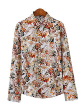 Load image into Gallery viewer, Men Long Sleeves Printed Shirt