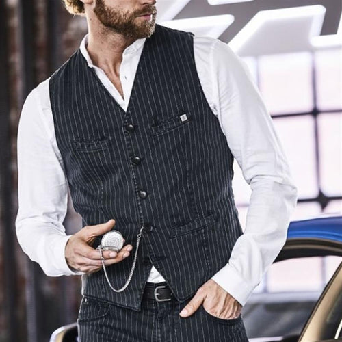 Men Simple Traditional Herringbone Waistcoat