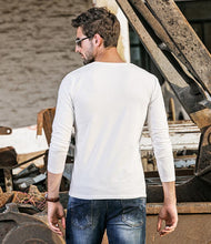 Load image into Gallery viewer, Men Beefy Henley Shirt