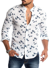 Load image into Gallery viewer, Men's Round Neck Blouse Shirt