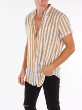 Load image into Gallery viewer, Men  Striped Short Sleeves Shirt