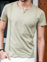 Load image into Gallery viewer, Men V-Neck Casual Tee