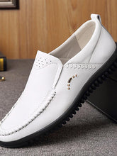 Load image into Gallery viewer, Men Solid Simple Slip-on Loafers Flat Shoes
