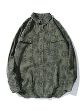 Load image into Gallery viewer, Men Tide Hemp Leaf Print Shirt