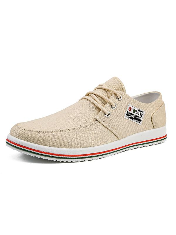 Men Casual Lace-up Canvas Shoes