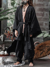 Load image into Gallery viewer, Men Solid Plus Cloak Robe
