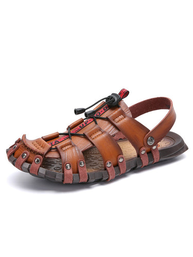 Solid Breathable Hollow Casual Sandal