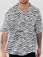 Load image into Gallery viewer, Men Zebra Printed Hippie Style Shirt
