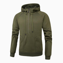 Load image into Gallery viewer, Men Pure Color Zipper Hoodie Sweatshirt