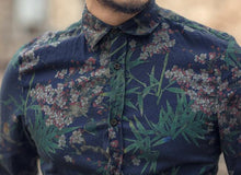 Load image into Gallery viewer, Men Floral Printing Long Sleeve Shirt