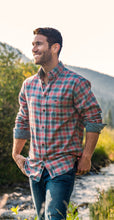 Load image into Gallery viewer, Men Lapel Plaid Blouses&Shirts Tops