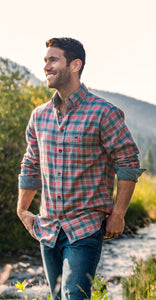 Men Lapel Plaid Blouses&Shirts Tops