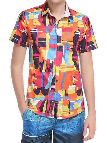 Men Asymmetric Graphic Shirt