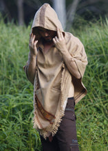 Load image into Gallery viewer, Men Hooded Poncho Wild Festival Rave Shawl
