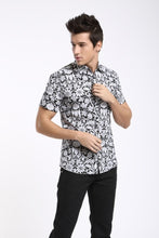 Load image into Gallery viewer, Men Vacation Printed Short Sleeves Shirt