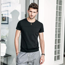 Load image into Gallery viewer, Men Basic Round Neck Solid T-Shirt