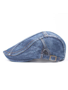 Men Casual Denim Fashion Adjustable Beret Hat
