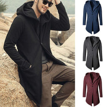 Load image into Gallery viewer, Men Hoodie Mid-Length Overcoat