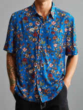 Load image into Gallery viewer, Men Floral Bohemian Style Shirt