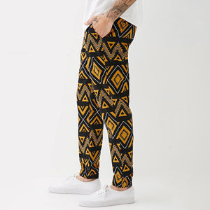 Men Color Square Printed Pants