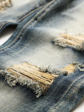 Load image into Gallery viewer, Men Casual Classic Ripped Destroyed Column Jeans