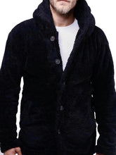 Load image into Gallery viewer, Winter Men Lambswool Hoodie Outerwear