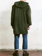 Load image into Gallery viewer, Men Green Wool Blend Duffle 80S Coat