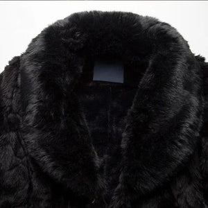 Men Faux Fur Winter Overcoat Coat