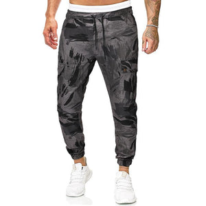 Men Leisure Military Style Tapered Joggers