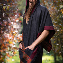 Load image into Gallery viewer, Men Hooded Poncho Boho Style Plus Shawl