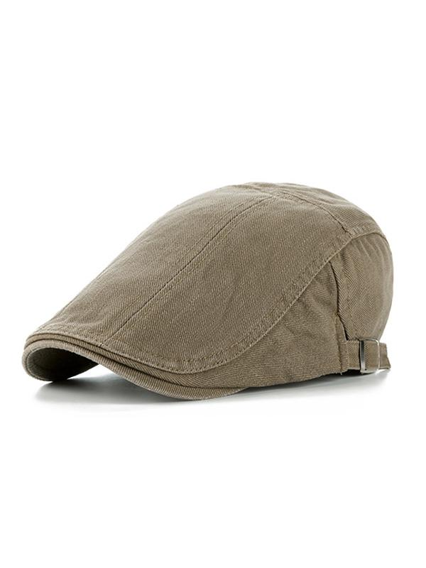 Solid Adjustable Cotton Casual Beret Hat