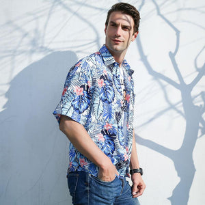Men Printing Short Sleeve Shirt
