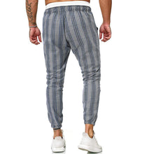 Load image into Gallery viewer, Men Casual Striped Tapered Pants