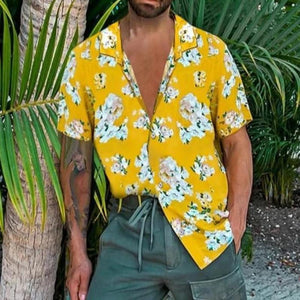 Printed Short Sleeves Man Shirt