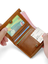 Load image into Gallery viewer, Solid Zipper Leather Multi-pocket Wallet