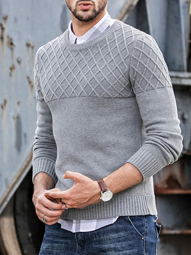 Men Solid Sweater Tops