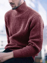 Load image into Gallery viewer, Men Keep Warm High-neck Solid Sweater Top