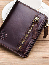 Load image into Gallery viewer, Solid Zipper Multi-Layer Pocket Fashion Wallet