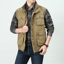 Load image into Gallery viewer, Men Military Style Pocket Vest
