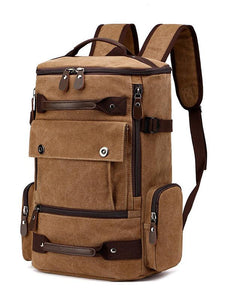 Split-Joint Casual Fashion Canvas Backpack