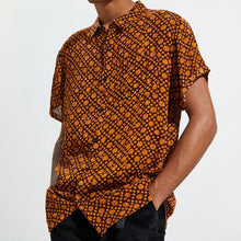 Load image into Gallery viewer, Men Retro Short Sleeve Button-Down Shirt