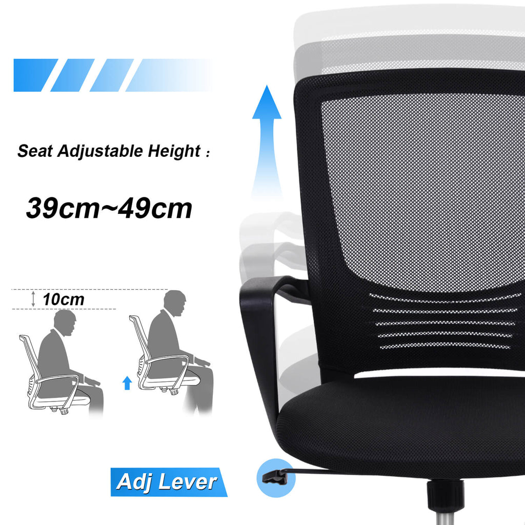 Mid Back Mesh Computer Office Chair